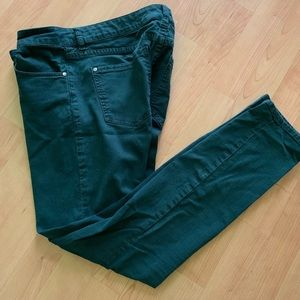 Anthropologie Hunter Green skinny pants size 27